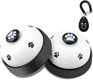 Dog Training Bell, Comsmart Set of 2 Dog Puppy Pet Potty Training Bells, Dog Cat Door Bell Tell Bell with Non-Skid Rubber ...