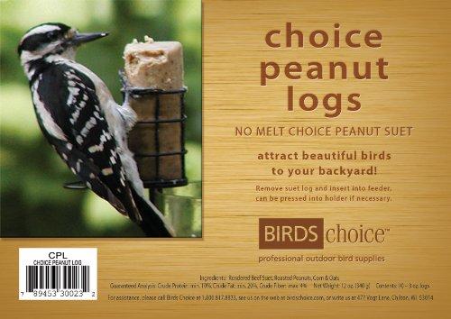Birds Choice Peanut Suet Log 3oz. De 4 Pièces