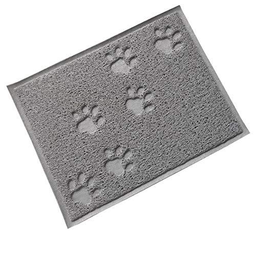 AOK DOOR Dog Food Mats Non Slip Cat Feeding Mat Cat Feeding Mat Non Slip Cat Mat Food Kitten Litter Tray Mat Cat Mats for Food Bowls Cat Feeding Mat Gary
