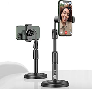 pTron Mount DSM1 360° Rotating Mobile Phone Desktop Stand, 24cm-32cm Adjustable Height, Sturdy & Stable Microphone Style D...