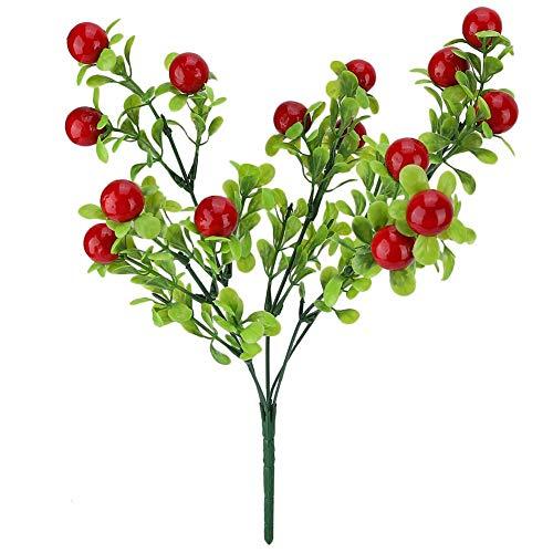 Cafopgrill Kunstmatige plant, namaakbessen, fruit, bloemenboeket voor bruiloft, tuin, decoratie