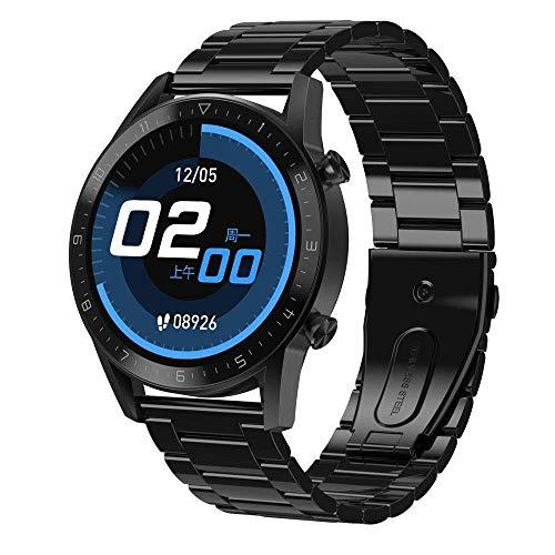 OH Smart Watch, Pantalla de Color de Vista Completa de Ips de 1.3 Pulgadas, Llame Al Podómetro de Deportes de Negocios Bluetooth, Reproductor de Música Inteligente Multi-Deportes Pu