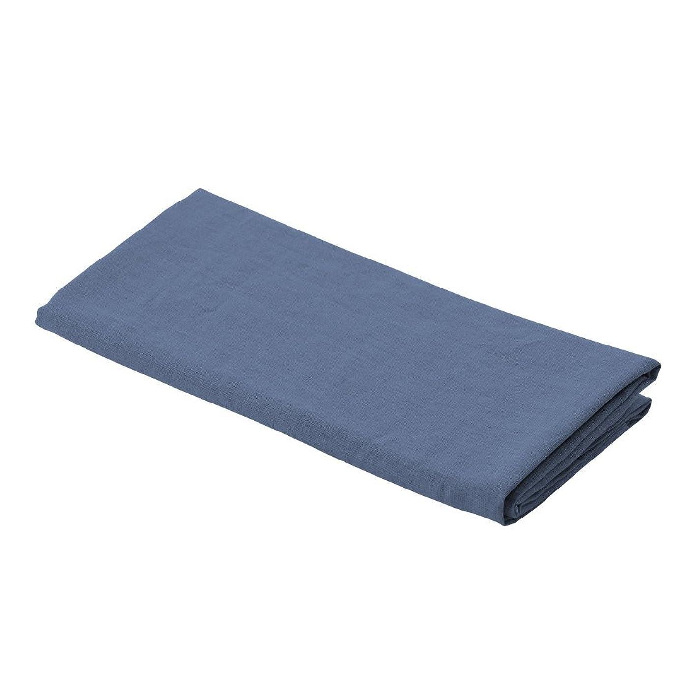 樫の木鎮静剤クラフトLa.chic ラシック 枕カバー フレンチリネン100% 日本製 Lサイズ 50×70 (ネイビー)