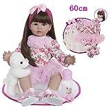 Zaoyun Baby Prinzessin 24 Zoll 60cm Lebensecht Silikon Vinyl Babys Günstig Reborn Puppe Doll Kinder...
