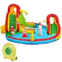 Costzon Inflatable Bounce House, 7 in 1 Mighty Pool Slide