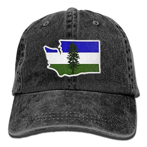 Cómoda Sombrero De Deporte,Transpirable Ocio Sombrero,Secado Rápido Dad Hat,Bandera De Cascadia Otoño...