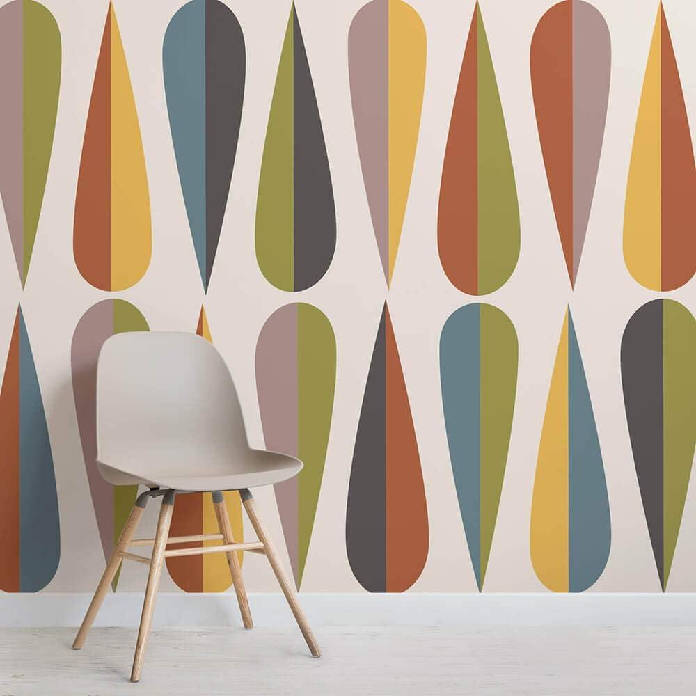 Wegner Mid Century Modern Square Mural Landscap Max 49% OFF Wall low-pricing Murals