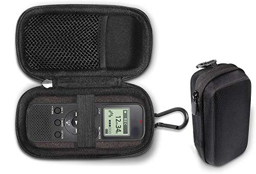 Digital Voice Recorder Case Compatible for Sony IDC PX370, PX333, PX470, UX560BLK, 4GB PX Series, BX140, Strong Light Weight case with Foam Padding for Easy Carrying and Best Protection