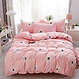 Juego de ropa de cama de 2 piezas con diseño floral de diente de león para niños, niñas y mujeres, colección de ropa de cama de tamaño individual, juego de funda de edredón y 1 funda de almohada