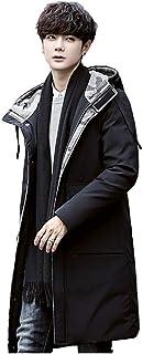 FORENJOY ダウンコート メンズ ロング コート ダウンジャケット ベンチコート メンズコート 中綿コート フード付き 秋冬 人気トップス 防寒 軽量 保温 厚手 ビジネス 普段着 大きいサイズ メンズファッション