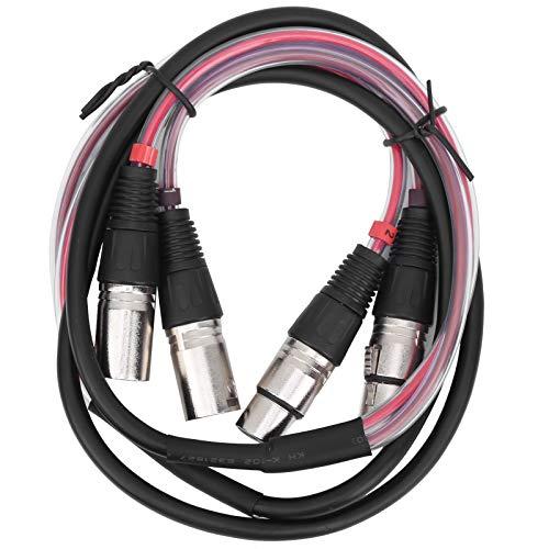 Anti-Knick aus Messing und PVC Fein verarbeitet Langlebiges Audiokabel, XLR-Mikrofonkabel, für Mixer Mikrofone Lautsprecher Hifi Audio und Video(1.5 metres)