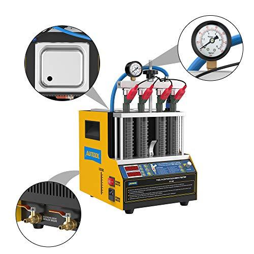 CT160 110 V / 220 V Inyector de combustible ultrasónico para motocicleta / coche Máquina de limpieza de diagnóstico Versión actualizada 2021 Sistema de inyección de combustible de 4 cilindros