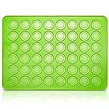 Belmalia Stampi in Silicone Macarons per Perfetti Macaron | Tappetino Silicone Antiaderente | Verde