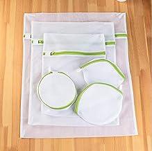 6 Sizes/Set Zippered Foldable Nylon Laundry Bag Bra Socks Underwear Clothes Washing Machine Protection Net Mesh Bags (Colo...