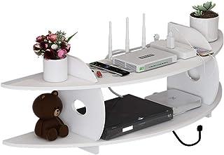 Montado en la pared Estante de almacenamiento, multifuncional Router Wifi Plataforma de gran capacidad estante de la pared...