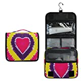 ALARGE - Bolsa de aseo para colgar, diseño abstracto de San Valentín, color abstracto