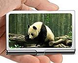 Porta biglietti da visita porta nome business, per adulti porta animali da compagnia panda porta biglietti da visita porta biglietti da visita (acciaio inox)