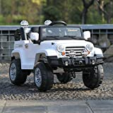 TOBBI Kids Ride on Truck Style 12V Battery Powered Electric Car W/Remote Control White
