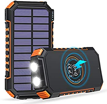 Addtop Solar Charger 26800mAh Solar Power Bank