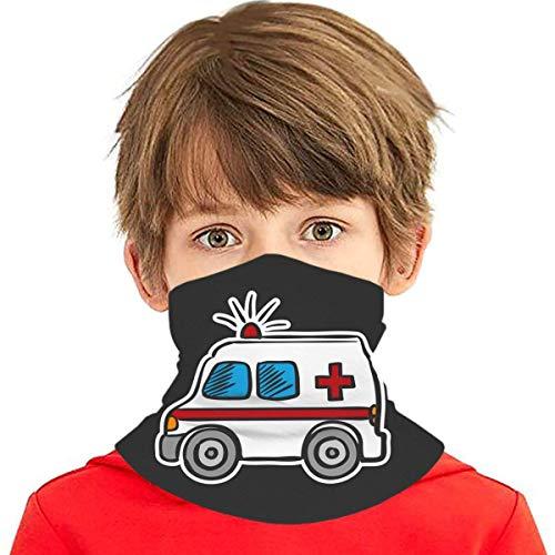 Wthesunshin Bufanda Niños Calentadora De Cuello Doodle de Ambulancia de Color Bufanda de Invierno Bandana Pasamontañas Calentador de Cuello Pañuelos para bebés, niños y niñas