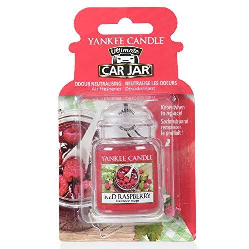 Yankee Candle 1521592E Car Freshener, Car Jar Ultimate, Red Raspberry