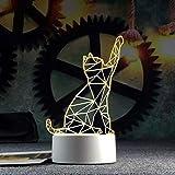 TYWFIOAV 3D animation salon bureau Luminaria De Mesa Para Estudo Moderne bureau moderne lampe de bureau de décoration de Noël cadeau