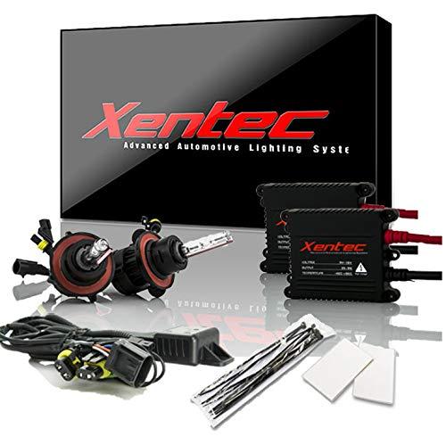 Xentec H13 (9008) 6000K Hi/lo Telescopic bixenon HID xenon bulb x 1 pair bundle with 2 x 35W Digital Slim Ballast (Ultra White)
