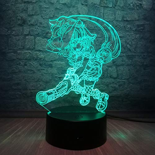 Japanische Anime 3D Tischlampe Kinder Spielzeug Geschenk CardCaptor Magic LED Farbe Nachtlicht USB Home Dekoration Kind Urlaub Geschenk Spielzeug