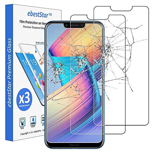 ebestStar - kompatibel mit Huawei Honor Play Panzerglas x3 Schutzfolie Glas, Schutzglas Displayschutz, Displayschutzfolie 9H gehärtes Glas [Phone: 157.9 x 74.3 x 7.5mm, 5.15'']