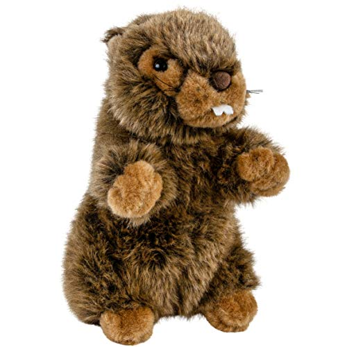 Teddys Rothenburg Kuscheltier Murmeltier mit Funktion (Pfeiffen) braun 18 cm