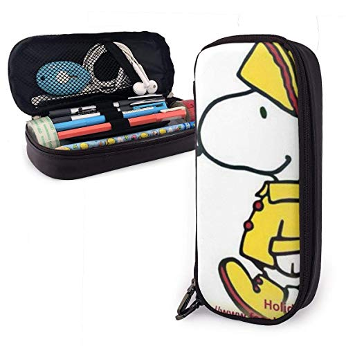 Guten Morgen Dienstag snoo-py Big Capacity Pencil Case Leder Pen Case Schreibwaren Tasche Zipper Pouch Pencil Holder