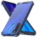 Ferilinso Funda para Xiaomi Redmi Note 8 2019 & 2021 [Transparente TPU Silicona Carcasa] [10X Anti-Amarilleo] [Compatible con la Cristal Templado Protector de Pantalla][Anti-arañazos](Azul)