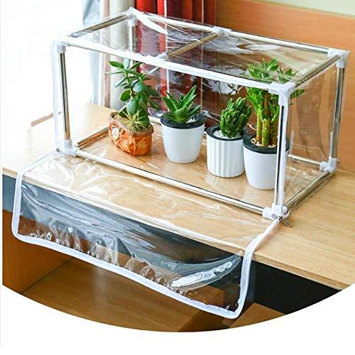 MAHFEI Invernadero Pequeño Portátil Mini Invernadero con Cubierta Transparente Casa De Flores con Puertas con Cremallera para Plantas De Aire Suculentas para Protección contra El Frío