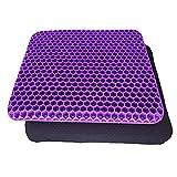 cuscino gel sedia cuscino antidecubito adatti per sedie a rotelle sedie da ufficio e sedie per auto fresco e traspirante(viola)