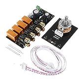 Meijin Accesorios de altavoz de entrada de audio selector de señal de relé de la placa de conmutación de señal amplificador de la junta RCA para altavoces