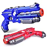 Ainek Laser Tag Guns Set of 2 - Adults & Kids Laser Tag Blaster - Home Infrared Laser Tag Battle Game for Indoor and Outdoor, Age 8+