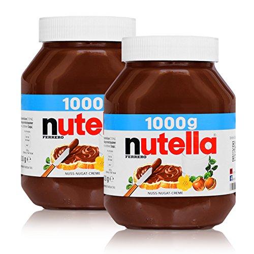 2x Ferrero Nutella Glas Brotaufstrich Schokolade 1000g