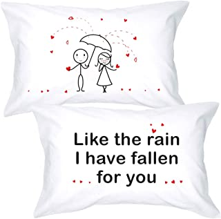 BoldLoft I Have Fallen for You Couple Pillowcases- Couple Gifts for Boyfriend and Girlfriend- for Her Gifts for Christmas, Valentines Day, Engagement, Birthday