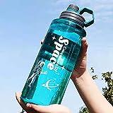 Botella de Agua Deportiva, 1100ML , Botella Agua sin BPA,Botellas de agua con indicador de mililitros,Gimnasio, Oficina, Escuela, Corrida, Senderismo y Actividades al Aire