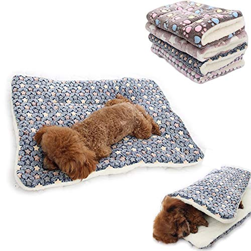 GSDJU dog blanket,travel,car blankets,sofa,carrying case,1pcs Soft Flannel Thickened Pet Soft Pad Pet Blanket Bed Mat For Puppy Dog Cat Sofa Cushion Home Rug Keep Warm Sleeping Cover
