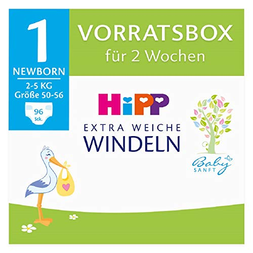 Hipp Babysanft Windeln Newborn 1 Vorratsbox