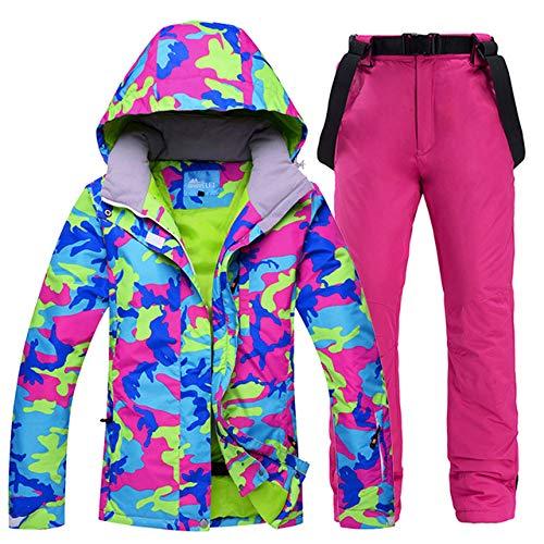 ZYJANO ski pak, Winter Ski Suit Vrouwen Merken Ski Jas en Broek voor Vrouwen Warm Waterdicht Winddicht Skiën en Snowboarden Suits