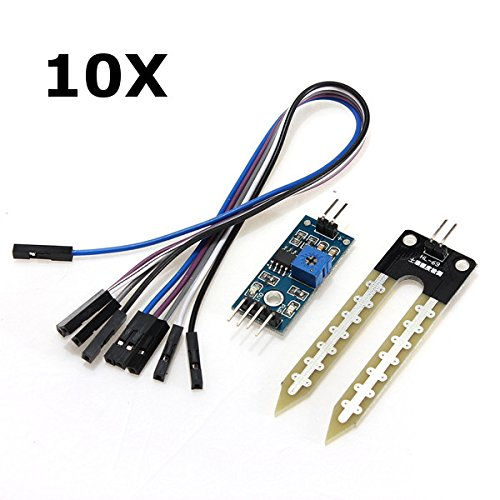 Check Out This ILS - 10 Pieces Soil Hygrometer Humidity Detection Moisture Sensor for Arduino