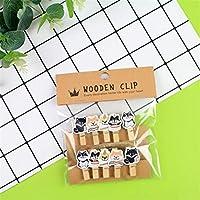 10ピース/パック天体犬ペット木製クリップ写真クラフトDIYクリップバインダーギフト麻ロープ