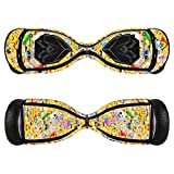 Sticker for Hover Board - Skin for Self-Balancing Electric Scooter - Decal for Self Balance Mobility Longboard - Smart Protective Cover Vinyl Case for 2 Wheel Scooter Board Fit for Swagtron T5