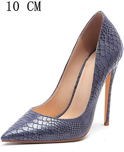Hysxm zapatos De Tacón Alto para mujer zapatos De mujer De San Valentín zapatos De Tacón Hauszapatos De Boda De Moda Sexy 10Cm gris