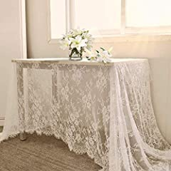 ❤ Embroidered Table Cloth: 1 Pieces lace tablecloth,size of 60 x 120 inch.Suitable for 6 Foot tables. ❤ High Quality:100% lace fiber,Exquisite and durable .Not easily loose thread with Exquisite edge. ❤ White Lace Tablecloth: Feature beautiful floral...
