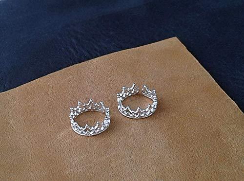 Silver Nipple Rings Сrown Non Piercing adjustable Nipple Ring