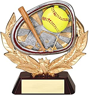 resin softball trophies