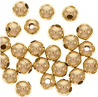 Gold Filled Beads Medium Seamless Gold Balls 5mm Rose Gold Filled Beads 600pc 5mm Beads Stringing Beads Made in USA 1420 14kt